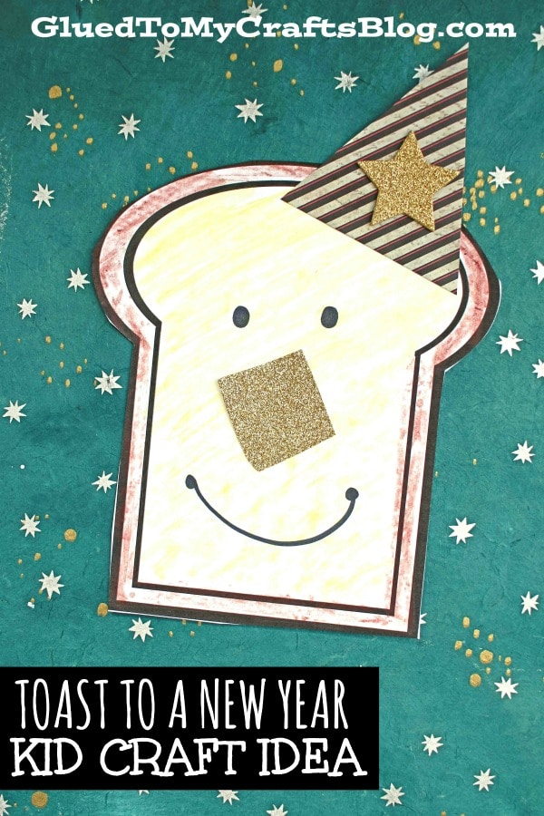 Toast To A New Year - Paper Craft For Kids!