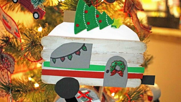 Popsicle Stick Christmas Caravan Ornament - Kid Craft