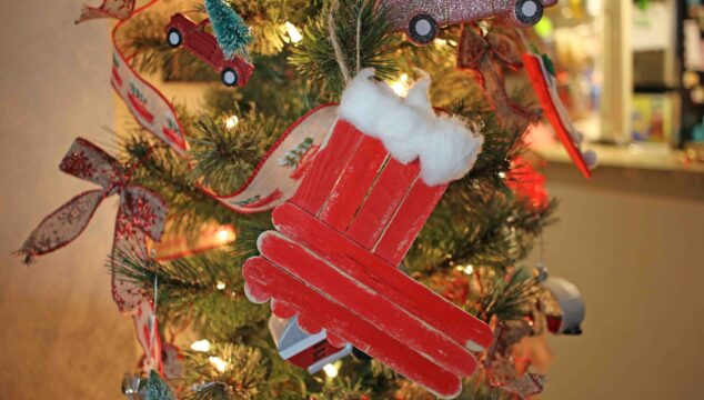 Popsicle Stick Christmas Stocking Ornament - Kid Craft