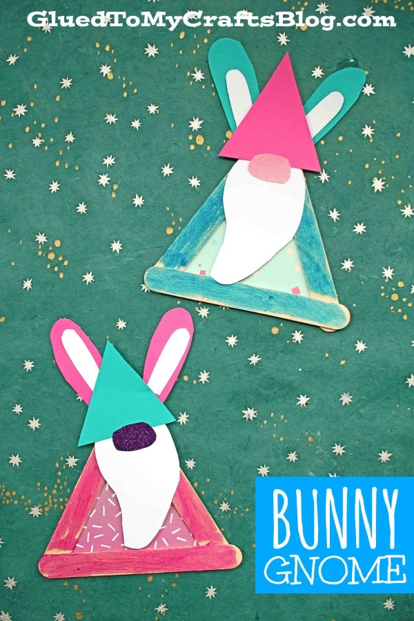 Popsicle Stick Bunny Gnome - Kid Craft