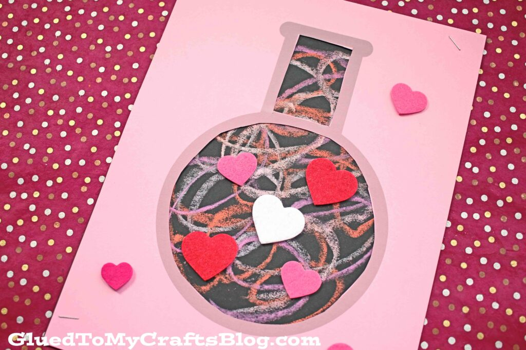 Paper Chalk Love Potion Craft For Valentine's Day