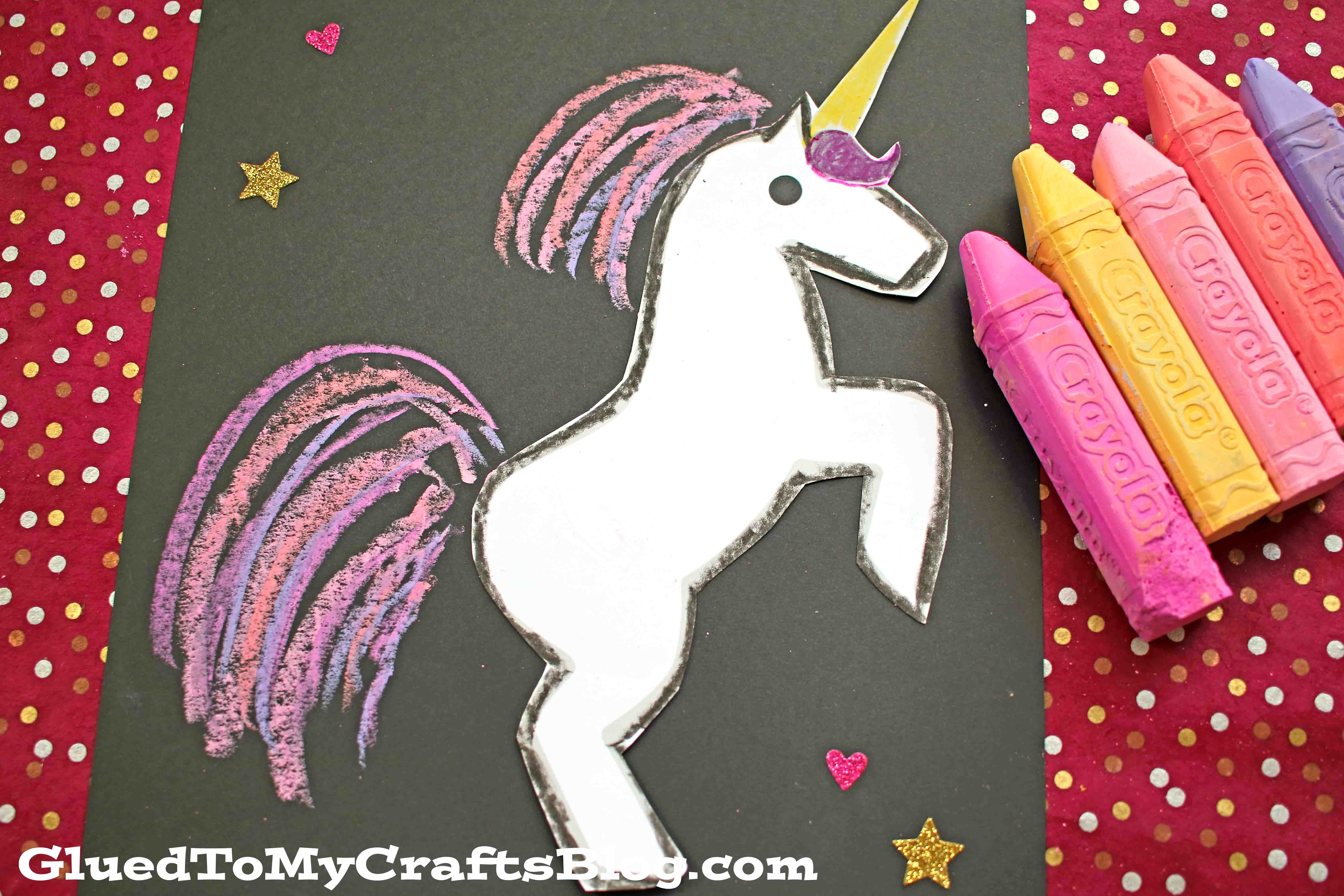 Paper Chalk Unicorn Craft For Kids To Recreate