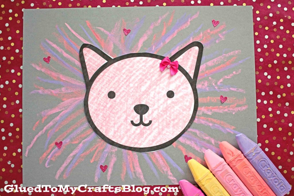 Paper & Chalk Valentine Lion Art Project For Kids