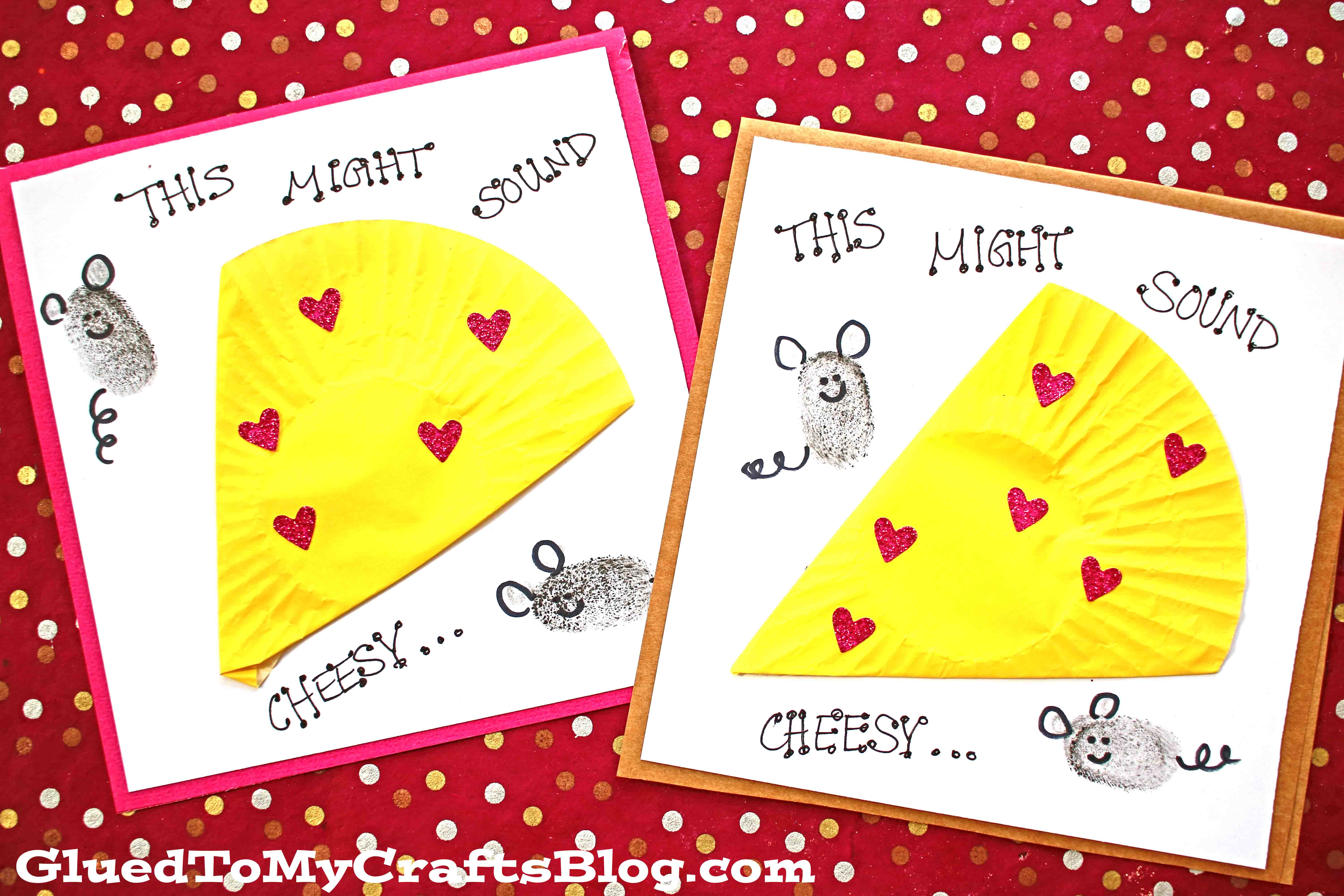 cupcake liner cheesy valentine card for kids to make