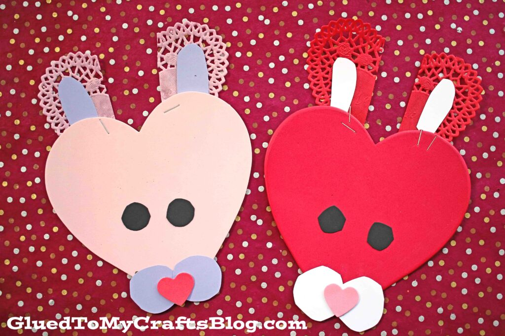 Craft Foam Valentine Bunny Kid Craft Glued To My Crafts