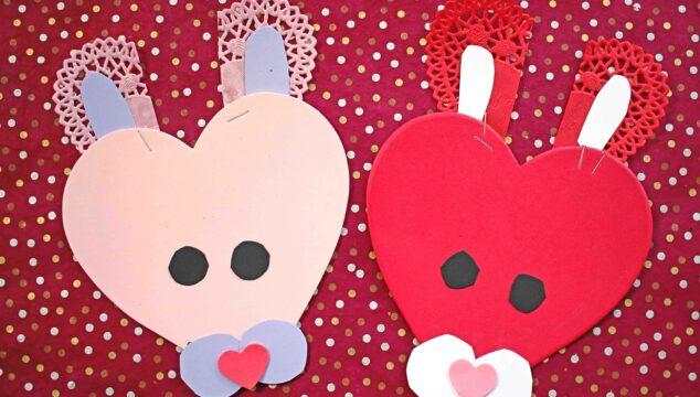 Craft Foam Valentine Bunny - Kid Craft
