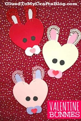 Craft Foam Valentine Bunny - Kid Craft