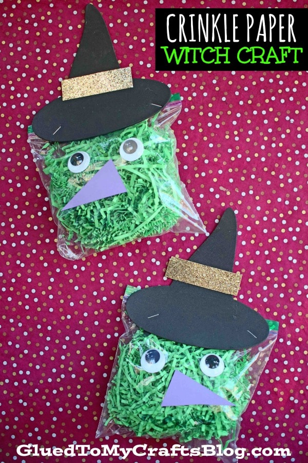 Crinkle Paper Witch - Halloween Kid Craft