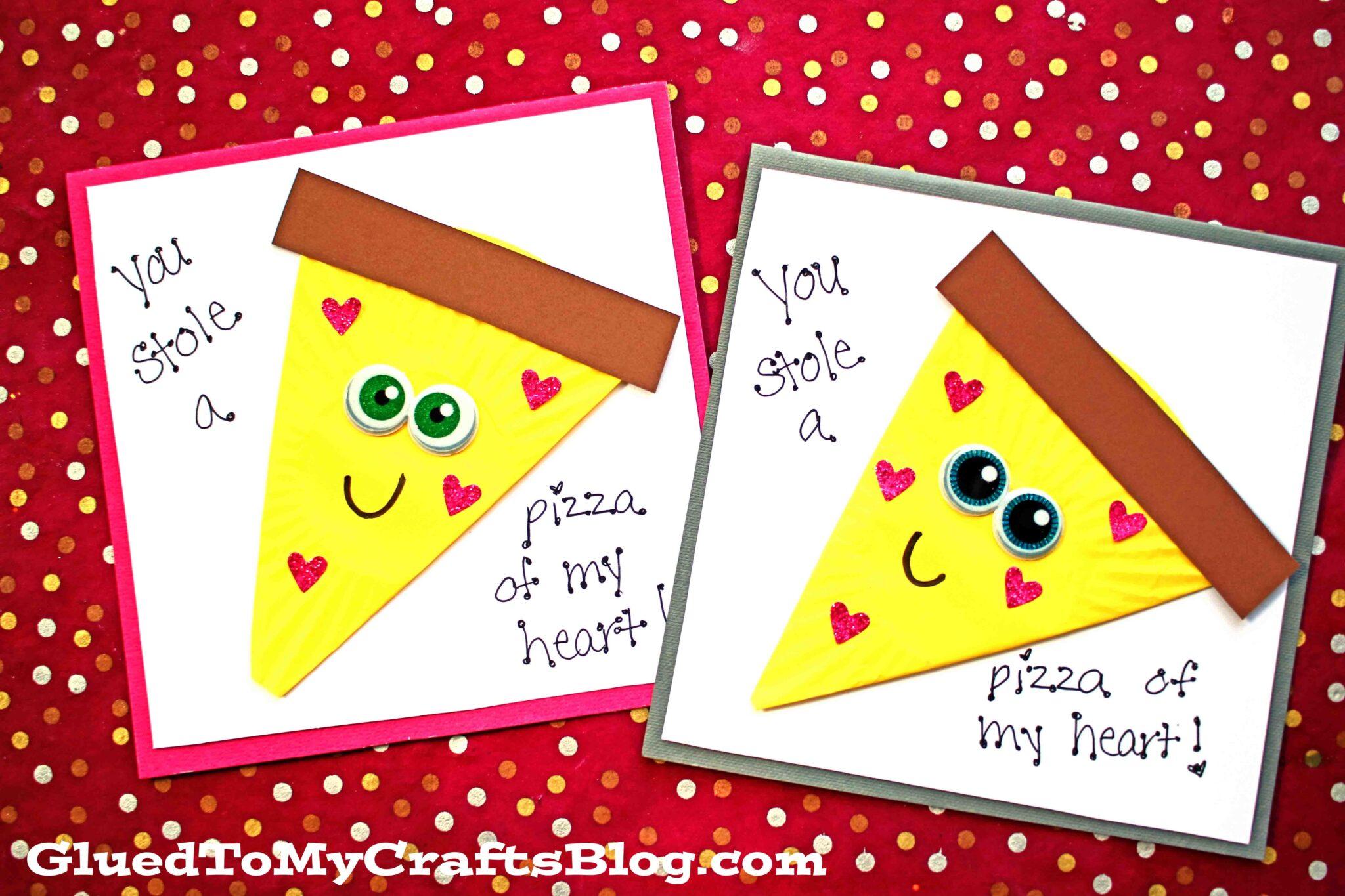 diy cupcake liner valentine pizza card tutorial for kids
