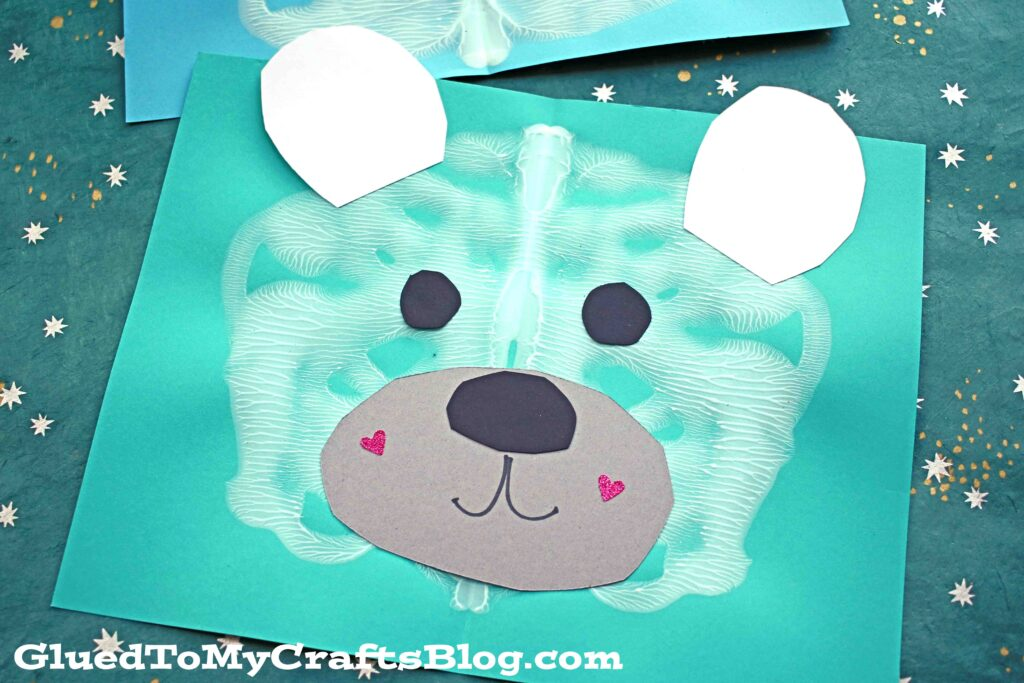 Paint Splat Polar Bear - Winter Kid Craft Idea