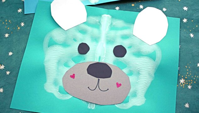 Paint Splat Polar Bear - Winter Kid Craft Idea