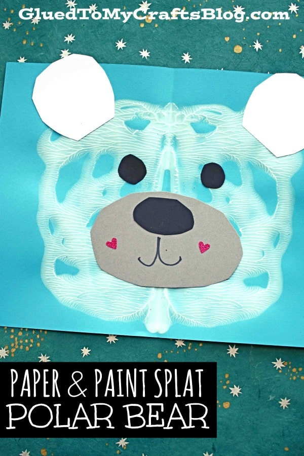 Paper & Paint Smash Polar Bear Face - Winter Kid Craft Idea