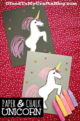 Paper & Chalk Unicorn Craft For Kids To Recreate!