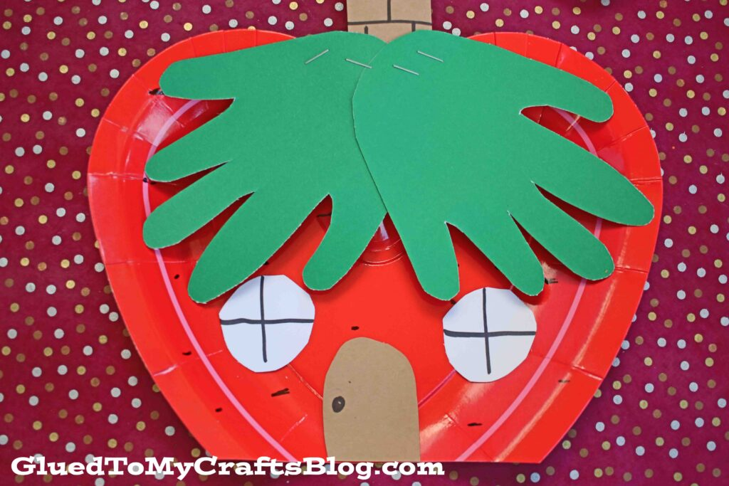 Paper Plate Strawberry House - Kid Craft