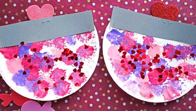 Paper Plate Valentine Candy Dish - Kid Craft