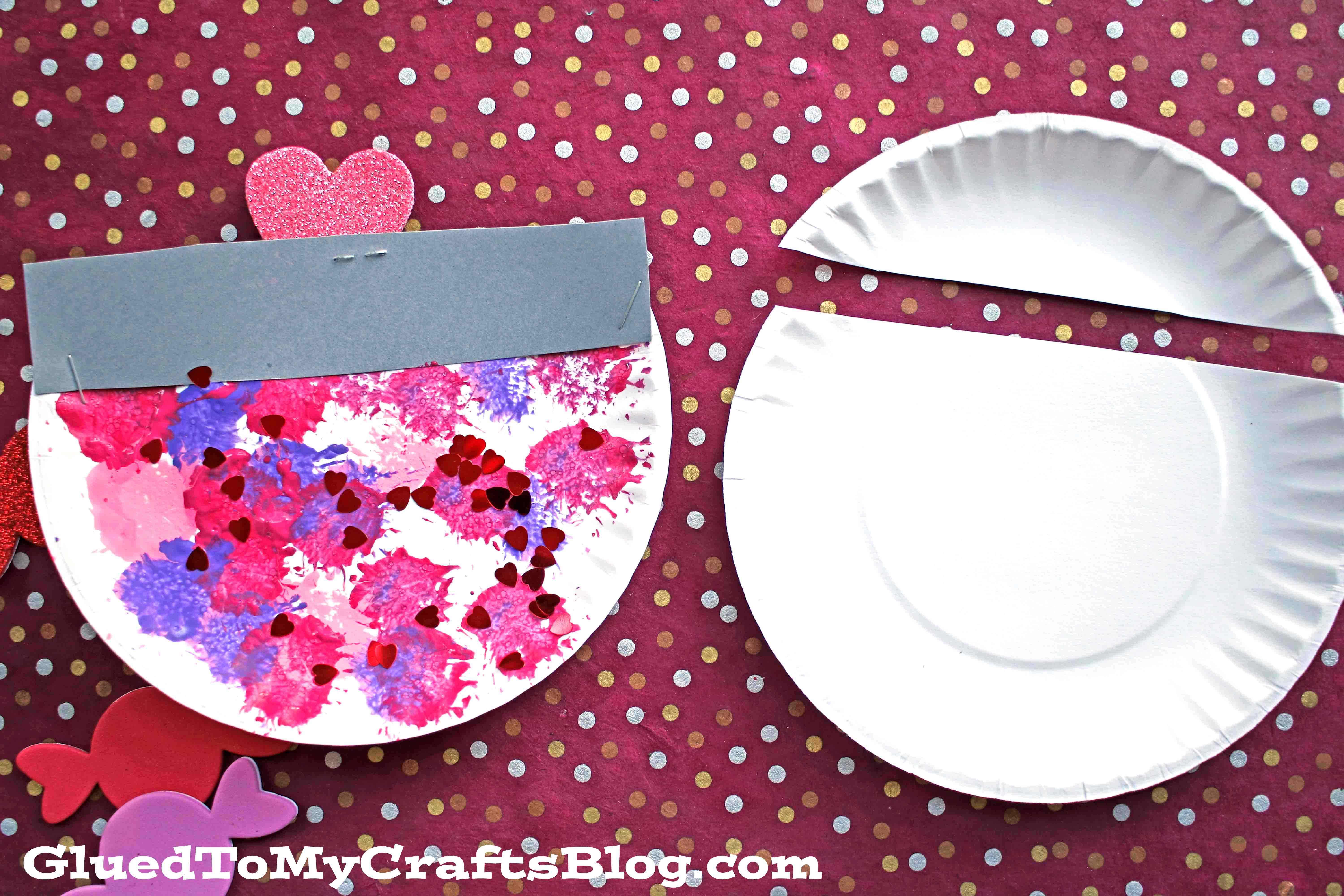 Paper Plate Valentine Candy Dish - Kid Craft