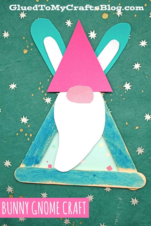 Popsicle Stick Easter Bunny Gnome - Kid Craft For Spring