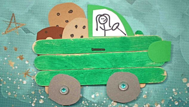 Popsicle Stick Girl Scout Cookie Truck - Kid Craft