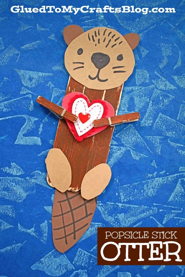 Popsicle Stick Otter - Kid Craft