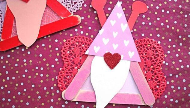 Popsicle Stick Valentine Gnome Love Bug - Kid Craft