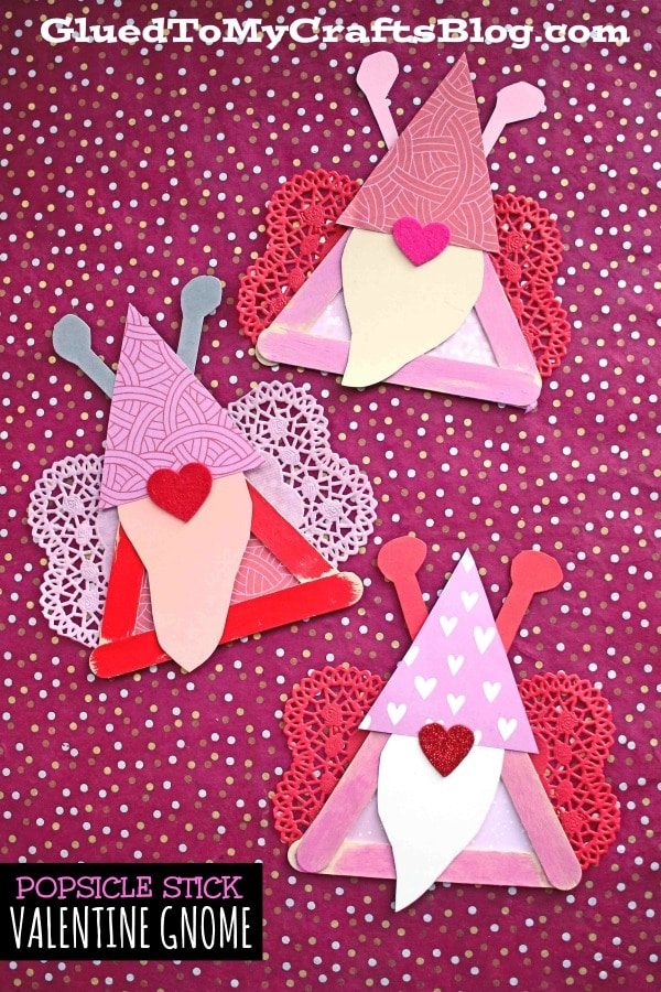 Popsicle Stick Valentine Gnome Love Bug - Kid Craft