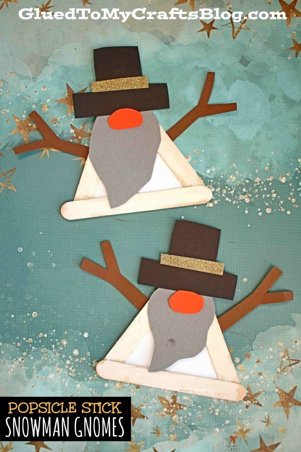 Popsicle Stick Snowman Gnome Craft For Kids To Make This Winter