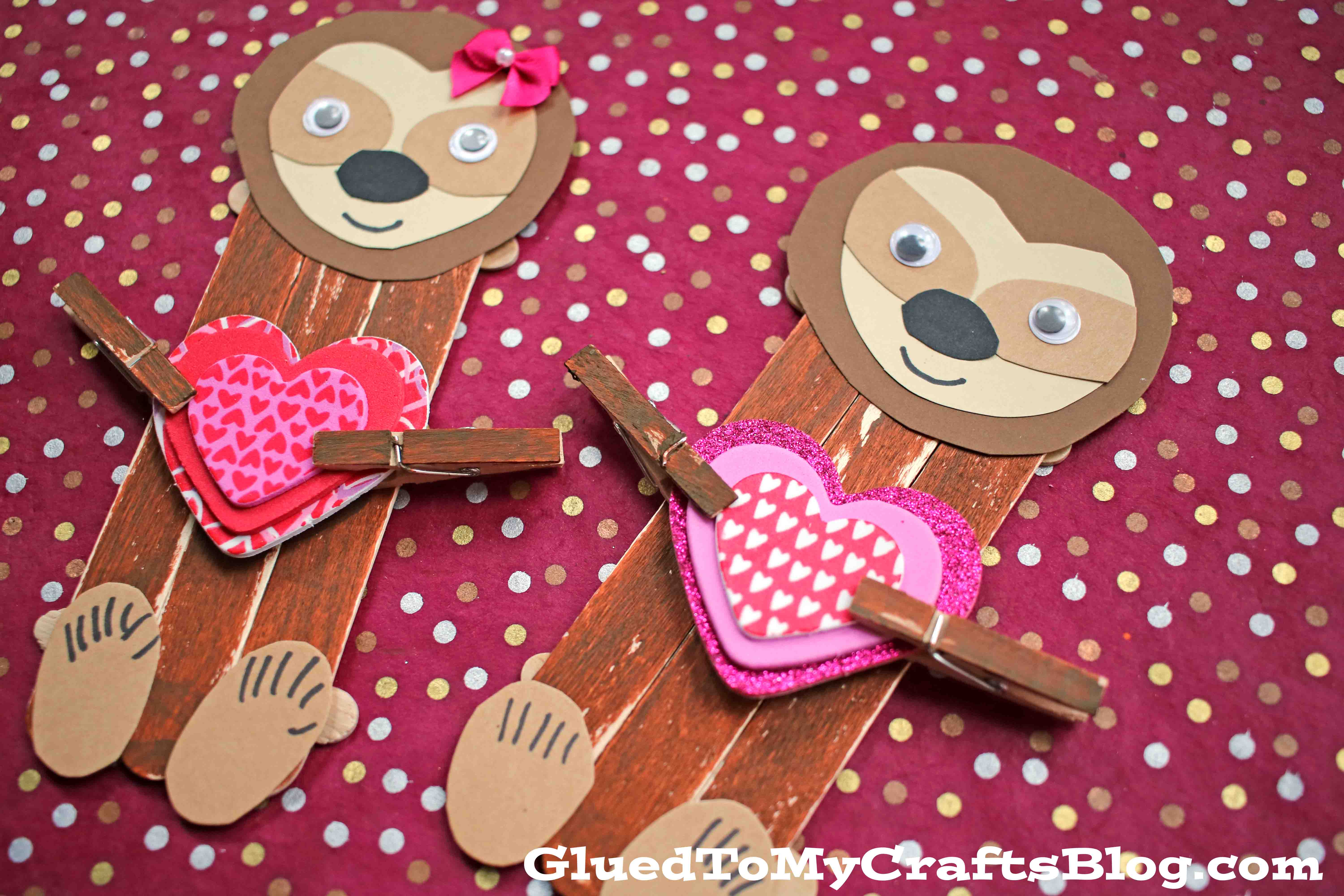 Popsicle Stick Sloth - Kid Craft