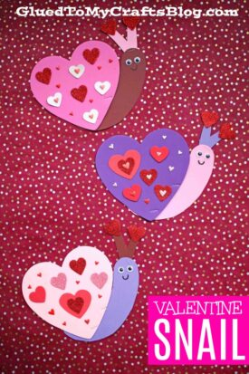 Craft Foam Heart Valentine Snails - Kid Craft