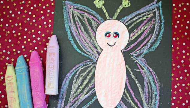 Paper & Sidewalk Chalk Butterfly Craft For Kids