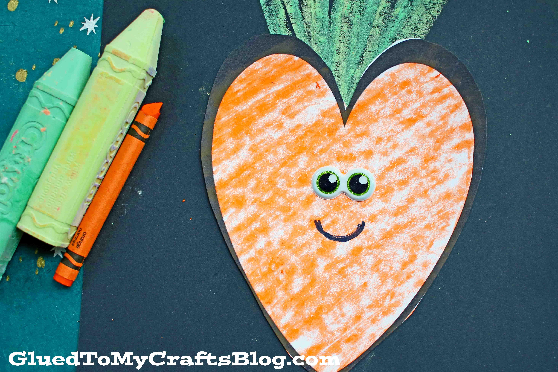 Paper & Chalk Art Carrot - Spring Kids Craft Idea