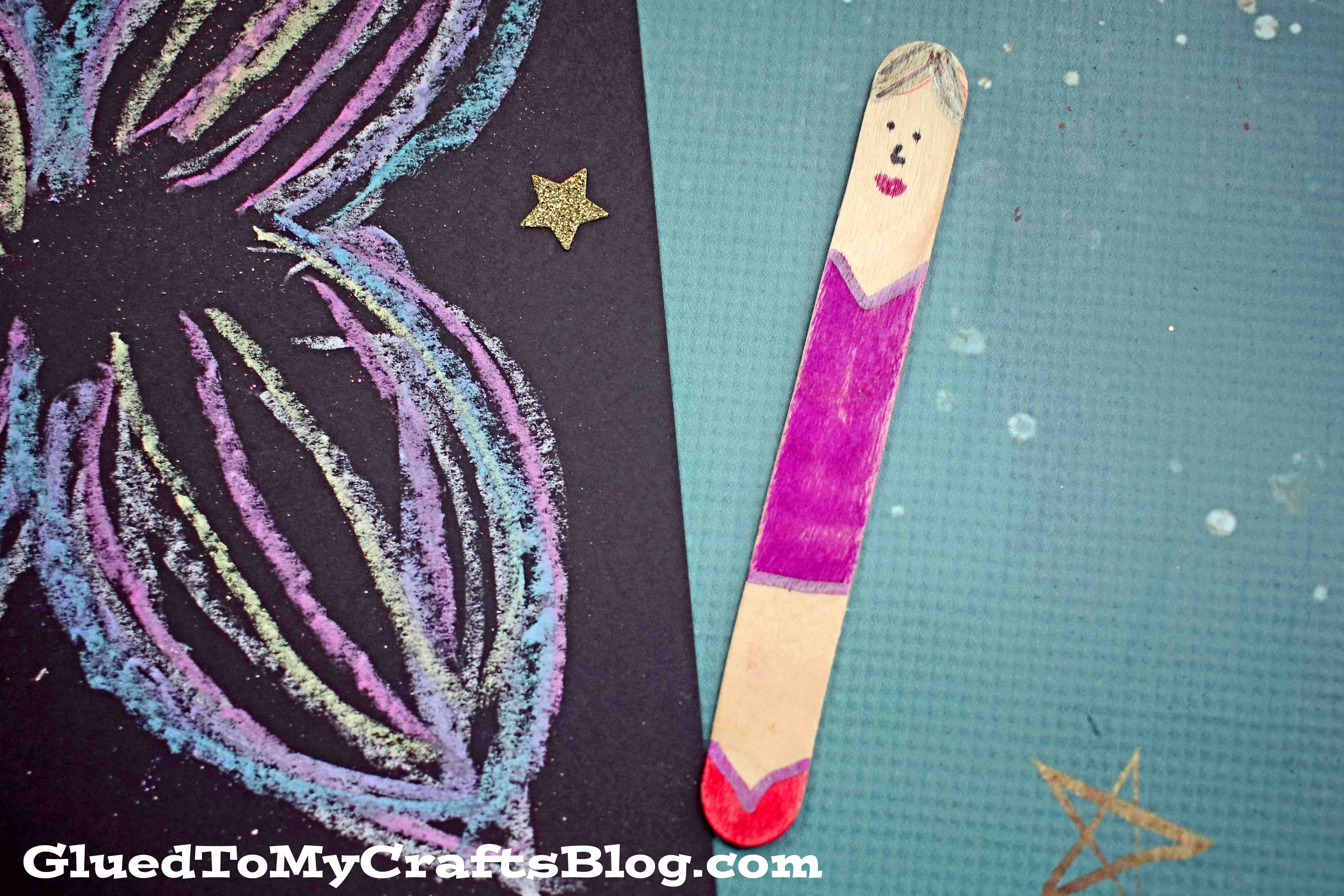 Chalk Art Fairy - Paper Kids Craft Idea For Spring