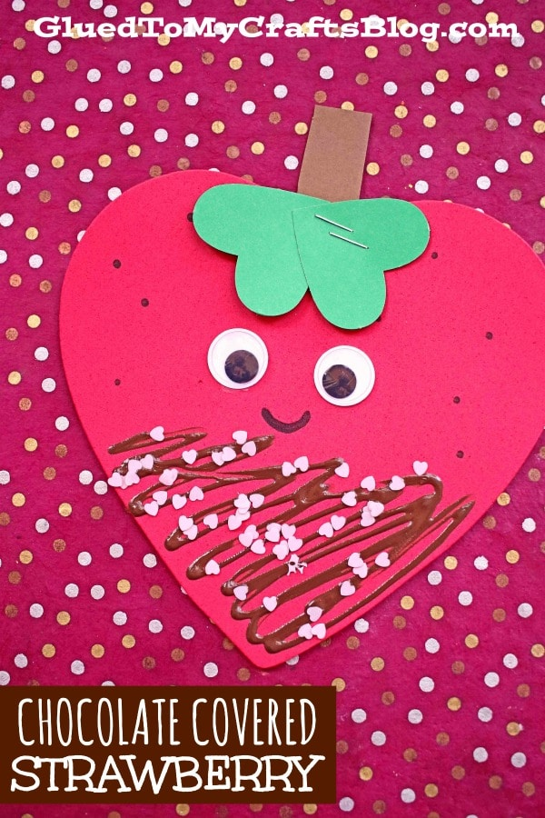 Craft Foam Chocolate Covered Strawberry Craft For Kids