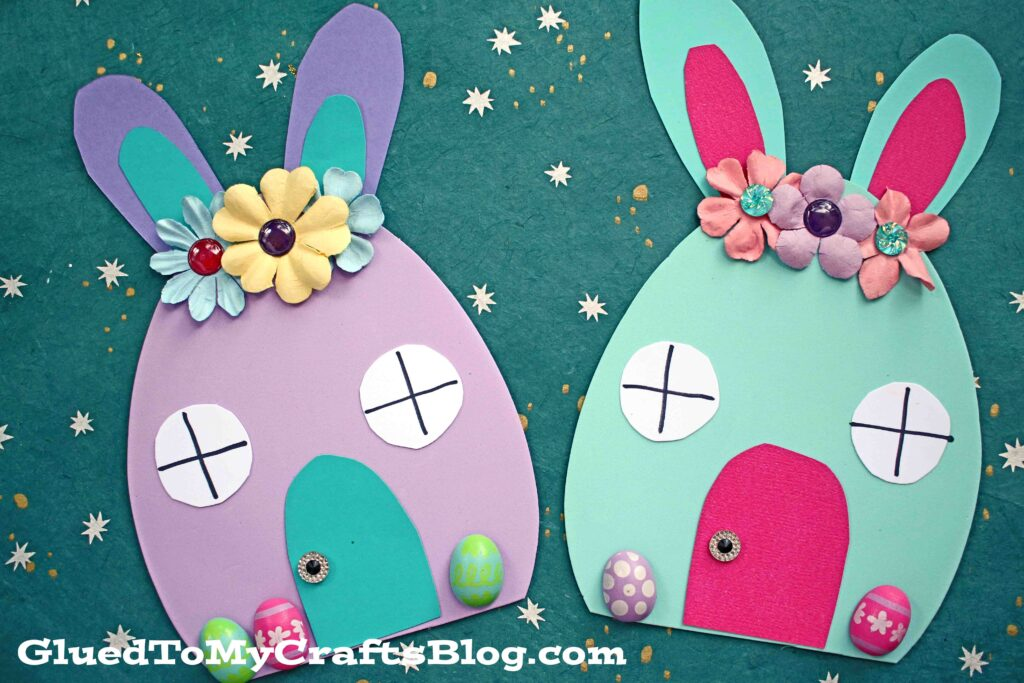 Craft Foam Egg Easter Bunny House Craft