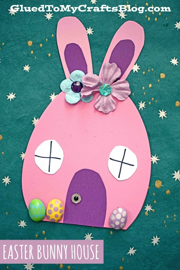 Craft Foam Egg Easter Bunny House Craft For Kids