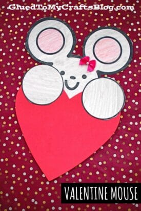 Valentine Mouse Craft For Kids To Make On Valentine's Day