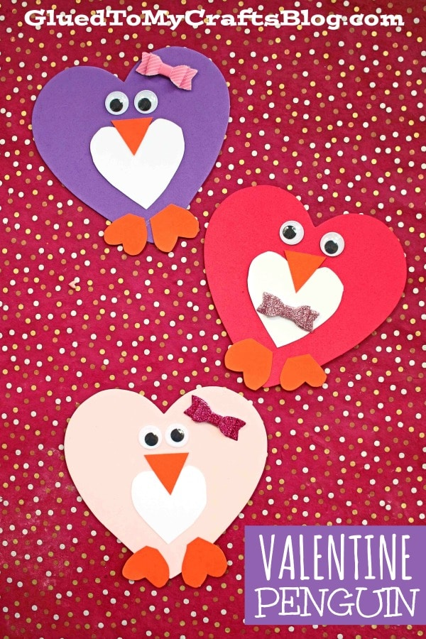 Craft Foam Heart Valentine Penguin - Kid Craft