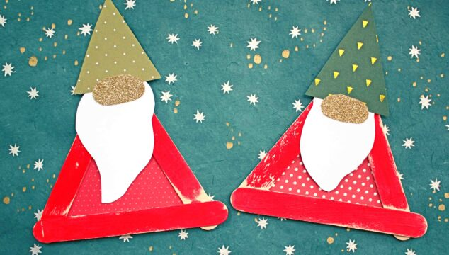 Craft Stick Santa Gnome - Christmas Kid Craft