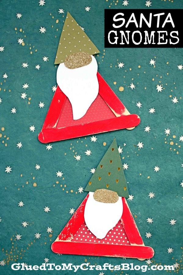 Craft Stick Santa Gnome - Christmas Kid Craft
