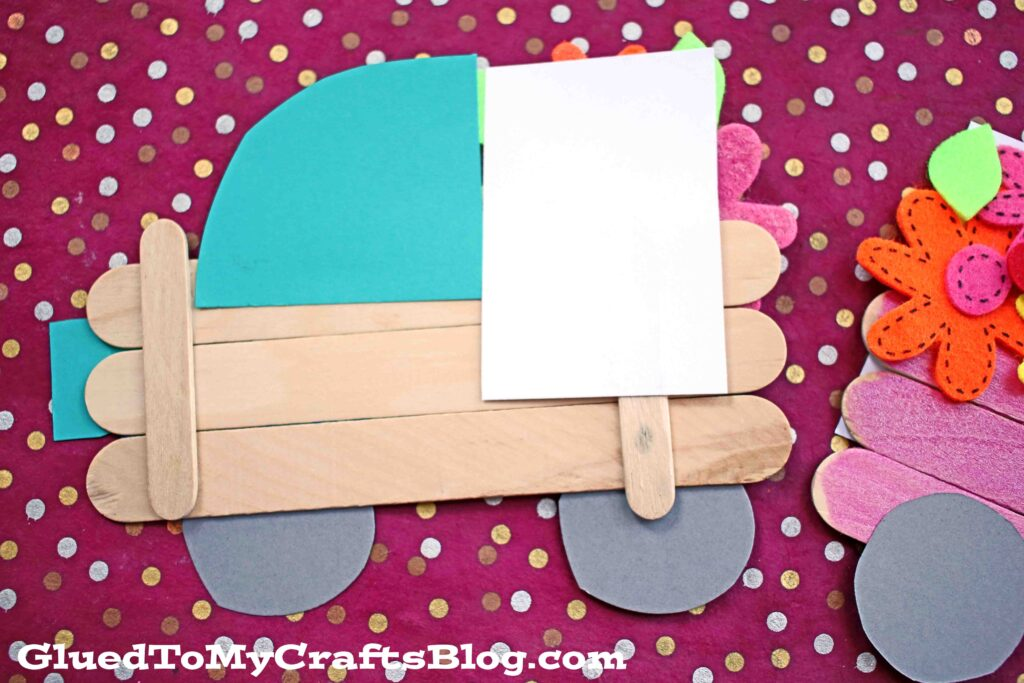 Popsicle Stick Spring Flower Truck - Kid Craft