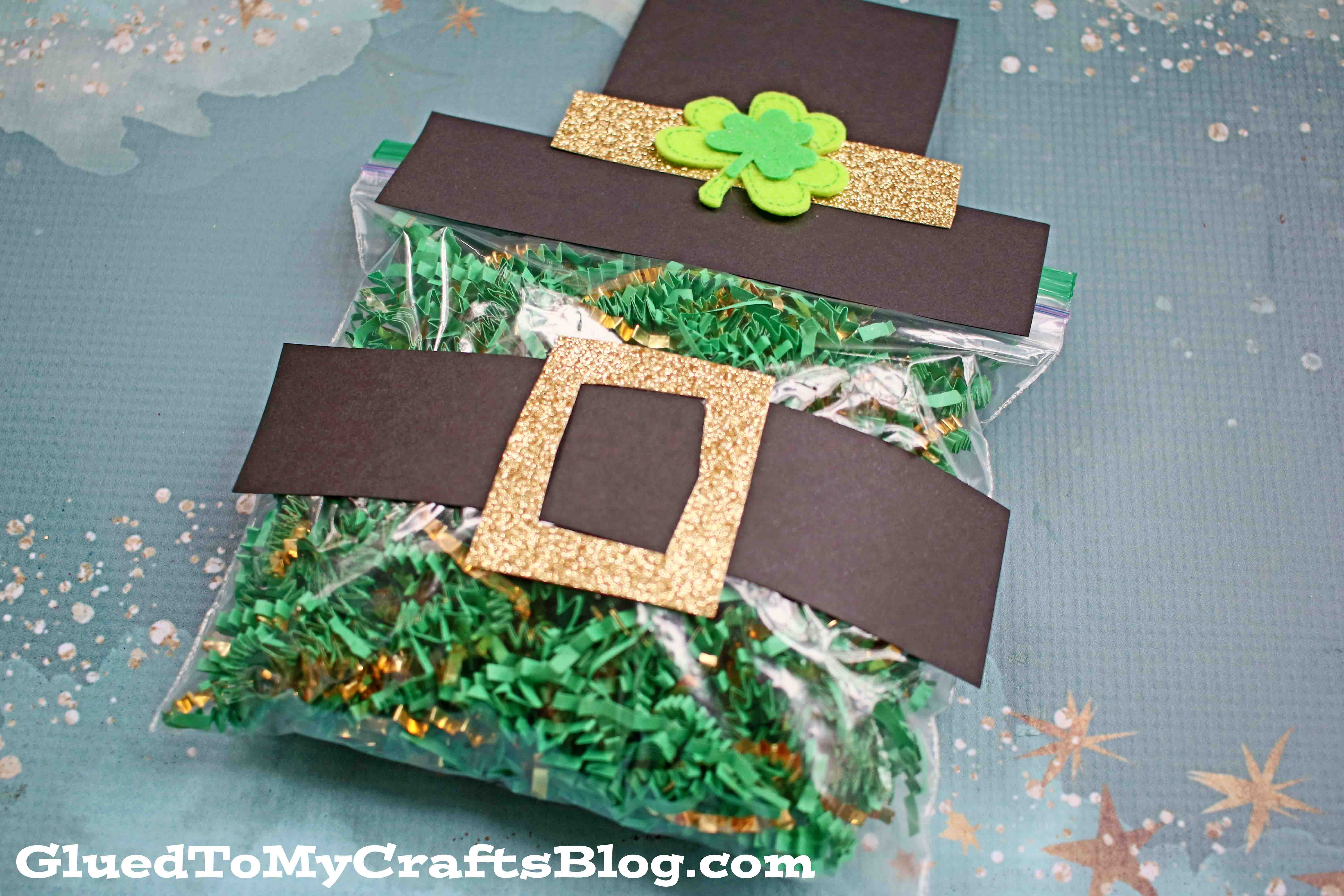 Crinkle Paper Leprechaun Belly - Kid Craft Idea