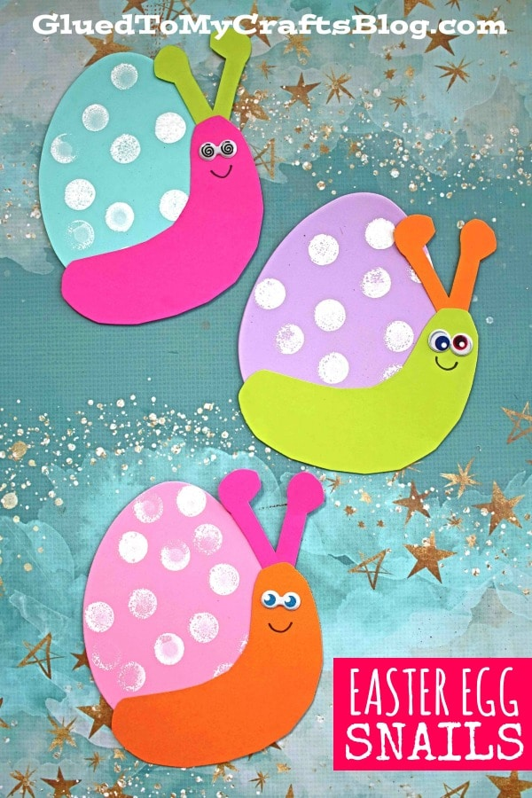 Craft Foam Easter Egg Snail - Spring Kid Craft Idea
