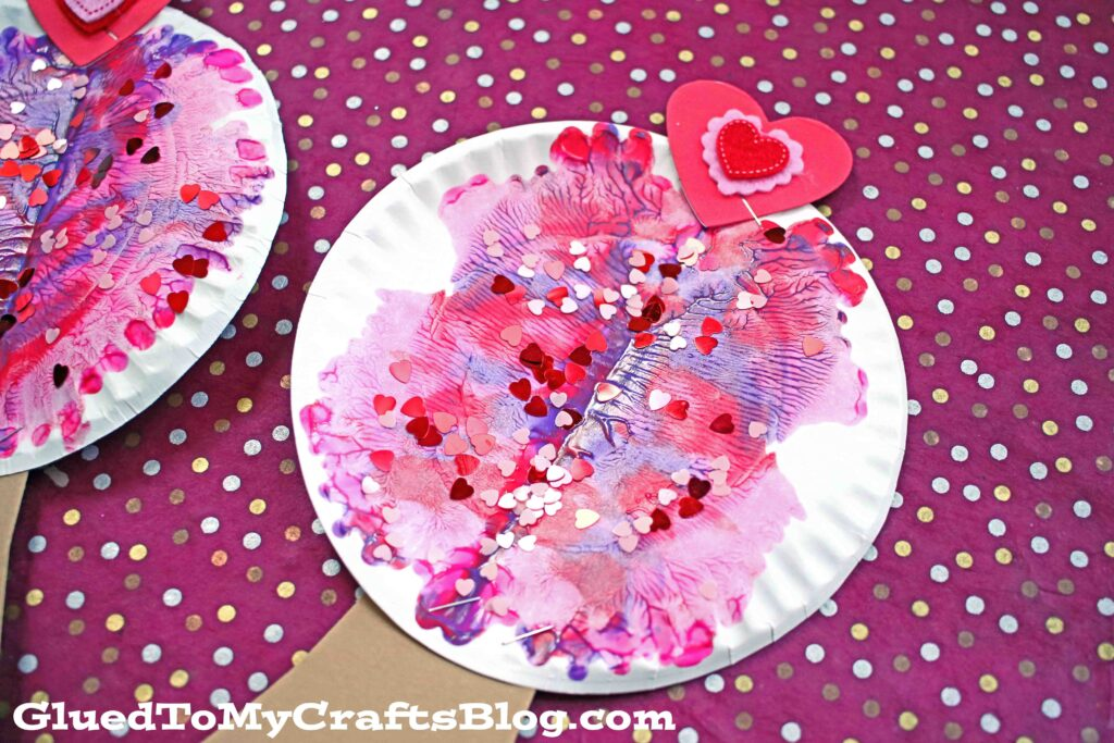 Paper Plate & Paint Splat Valentine Tree - Kid Craft