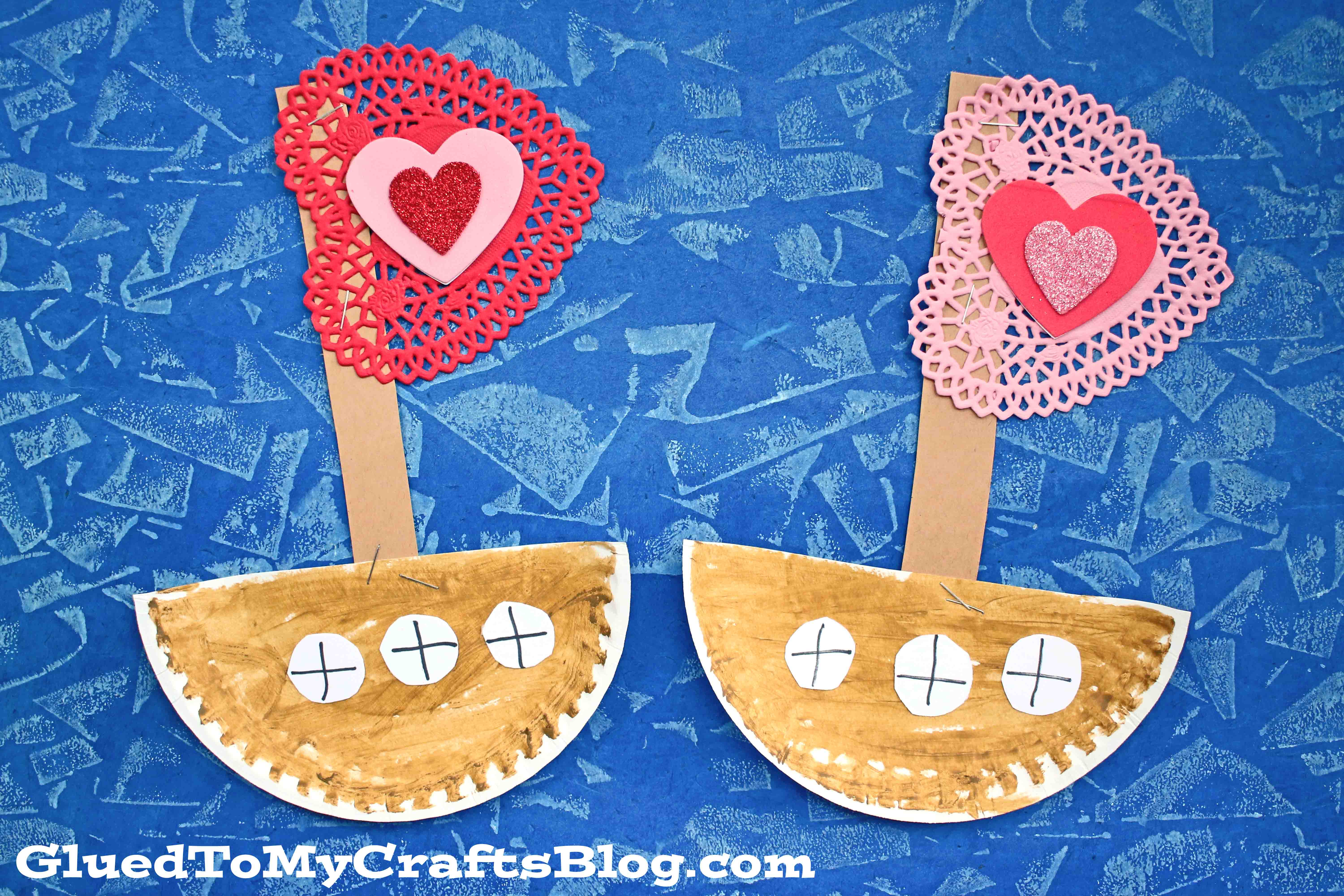 Paper Plate Love Boat - Kid Craft
