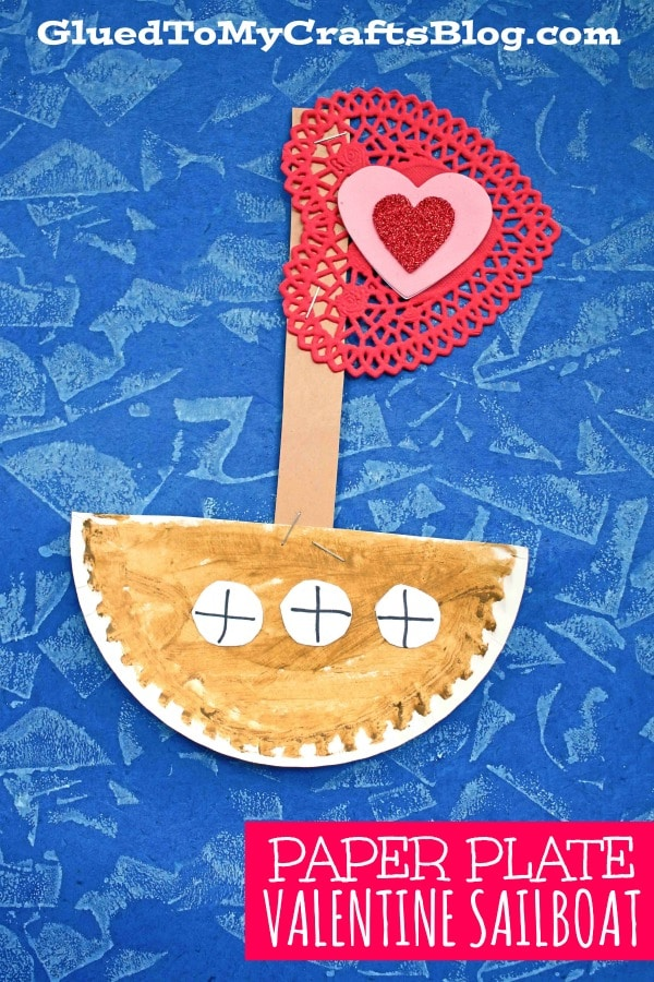 Paper Plate Love Sailboat - Kid Craft for Valentine's Day