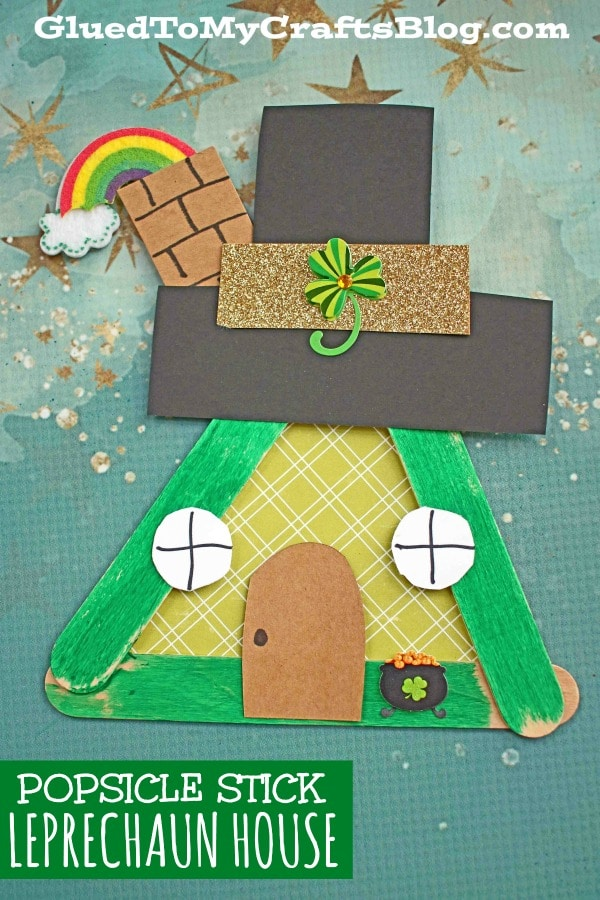 Popsicle Stick Leprechaun Fairy House - Kid Craft