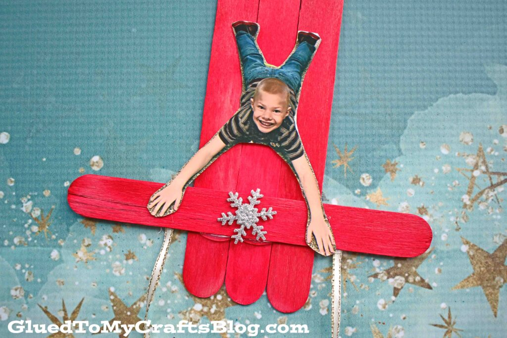 Popsicle Stick Sleigh Ornament For Kids To Make