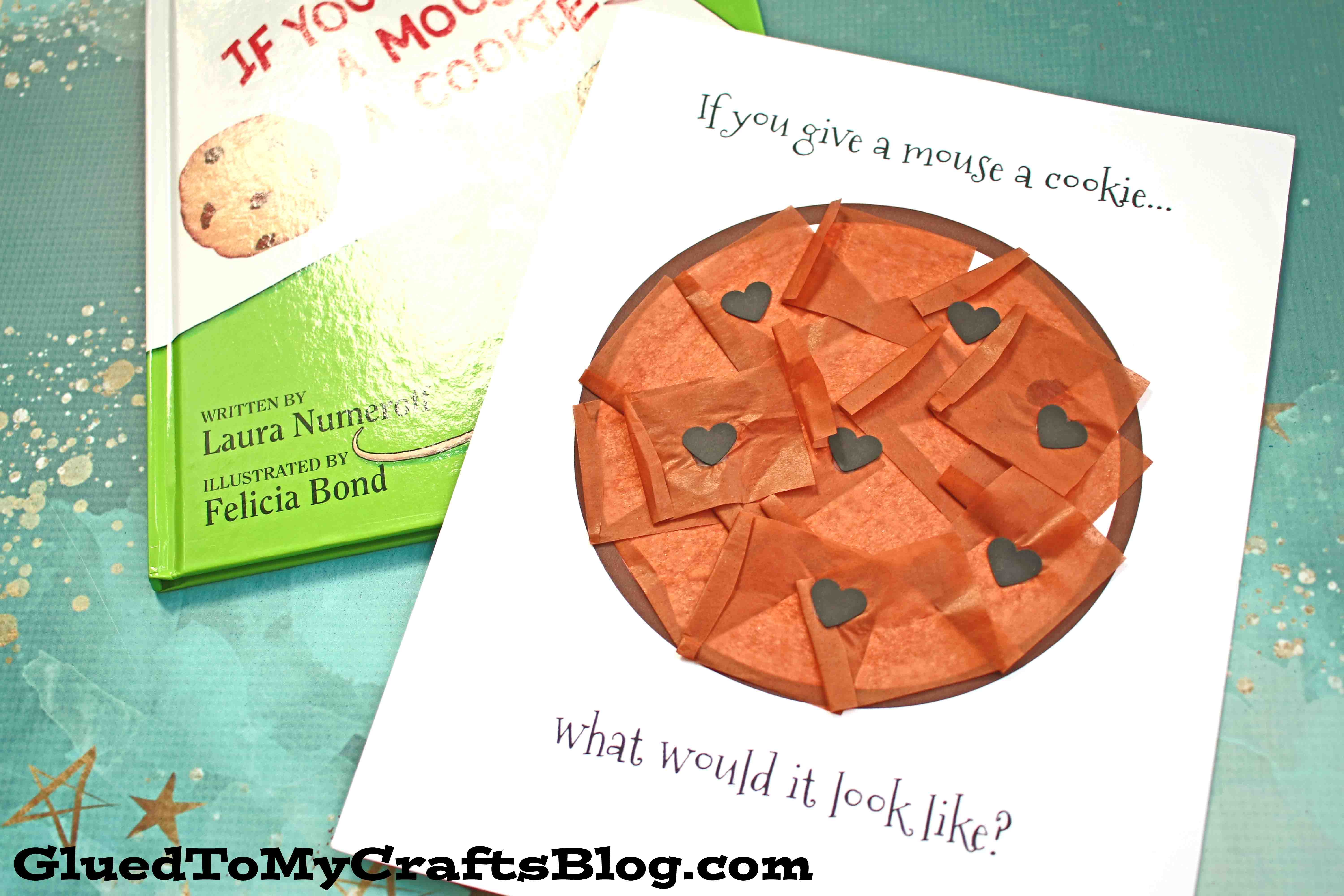 Paper and Tissue Paper Chocolate Chip Cookie Craft For Toddlers