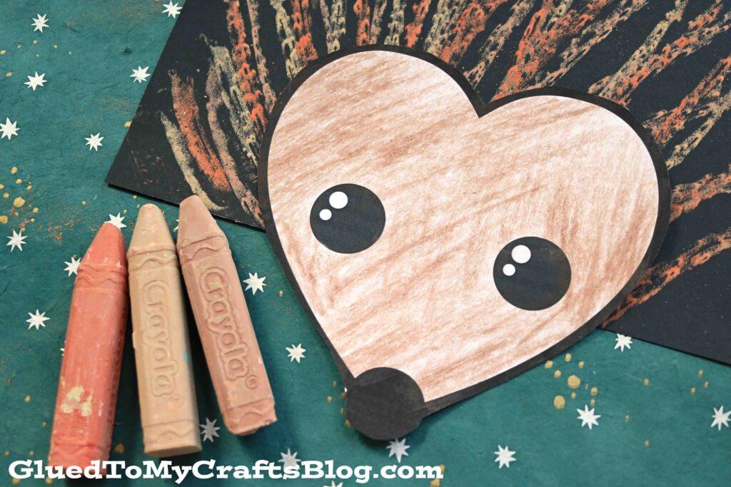Paper & Chalk Art Hedgehog - Kid Craft