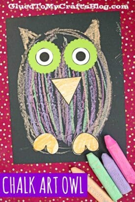 Chalk Art Owl Craft For Kids To Recreate!