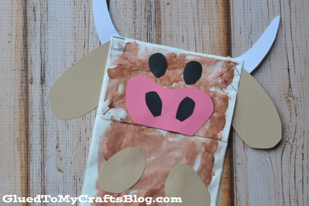 Paper Bag Brown Cow - Kid Craft Idea